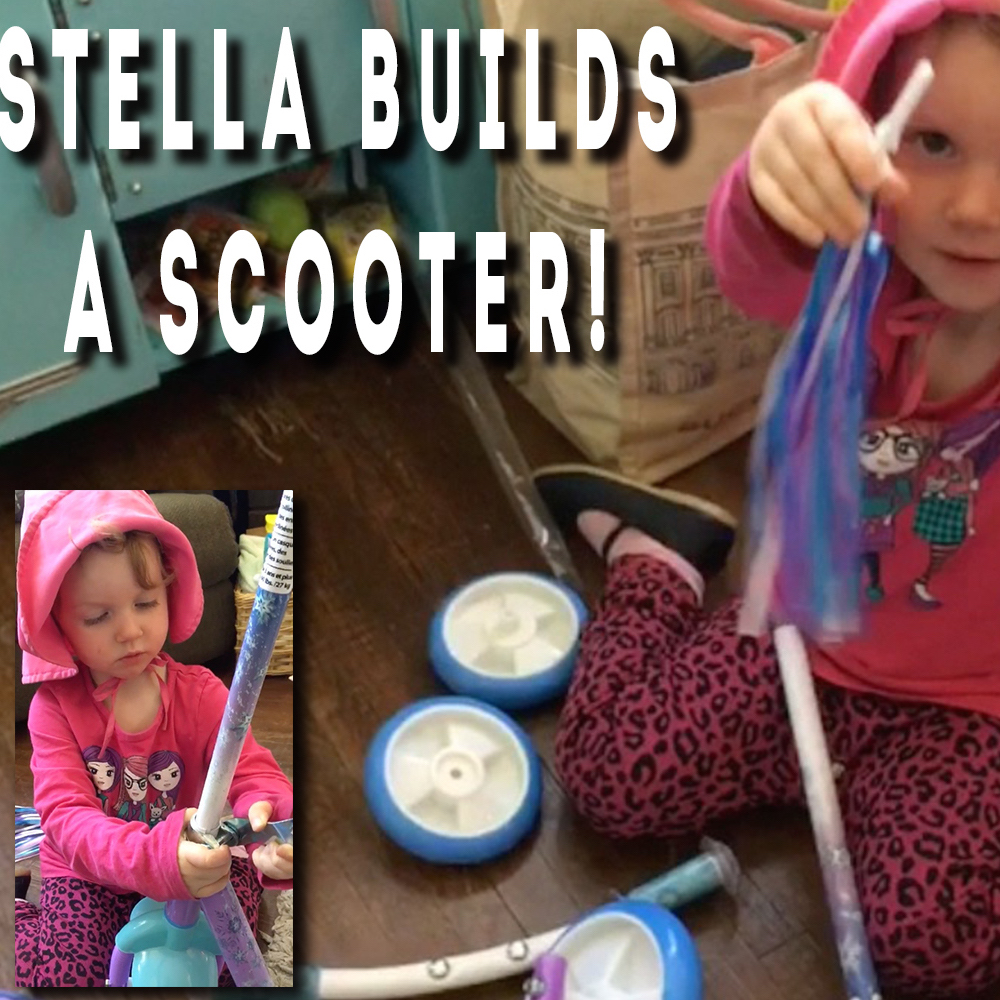 Thumbnail for the post titled: Stella Builds A Scooter!